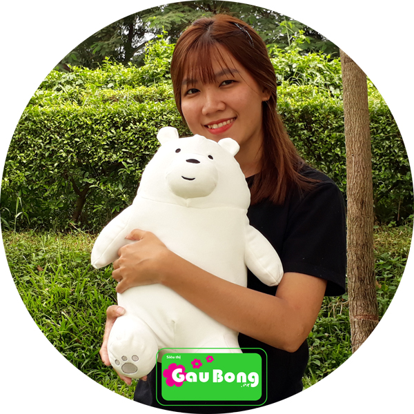 Gấu Bông We Bare Bear - Ice bear